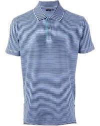 Polo à rayures horizontales bleu