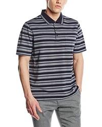 Polo à rayures horizontales gris Maerz