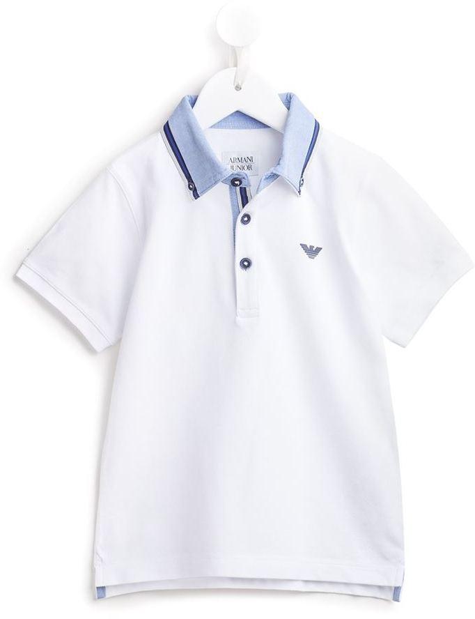 Polo blanc Armani Junior