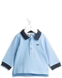 Polo bleu clair Armani Junior