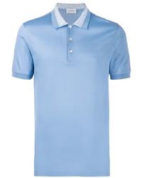 Polo bleu clair Salvatore Ferragamo