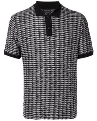 Polo imprimé gris Giorgio Armani