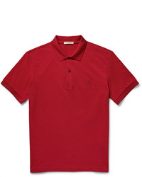 Polo rouge Burberry