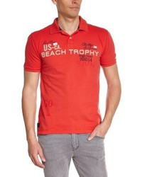 Polo rouge Tom Tailor