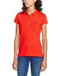 Polo rouge Tommy Hilfiger