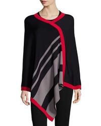 Poncho à rayures horizontales noir