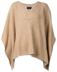 Poncho brun clair original 10213380