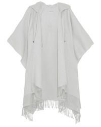 Poncho en laine gris Balenciaga