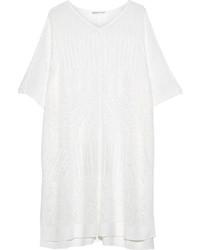 Poncho en tricot blanc
