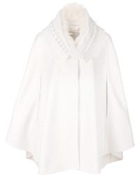Poncho en tricot blanc Ermanno Scervino