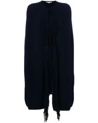 Poncho en tricot bleu marine Stella McCartney