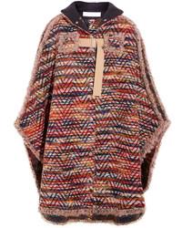 Poncho en tricot bordeaux See by Chloe