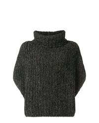 Poncho en tricot gris foncé Fabiana Filippi