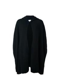 Poncho en tricot noir Le Kasha
