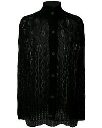 Poncho en tricot noir MCQ
