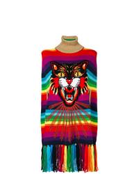 Poncho imprimé multicolore Gucci