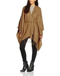 Poncho marron clair Only