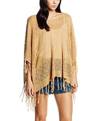 Poncho marron clair Pieces
