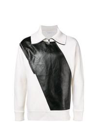 Pull à col à fermeture éclair blanc et noir Givenchy