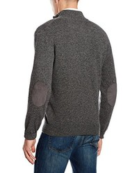 Pull à col à fermeture éclair gris foncé Hackett Clothing