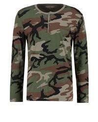 Pull à col boutonné camouflage multicolore Ralph Lauren