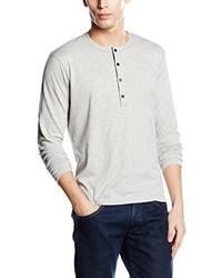 Pull à col boutonné gris Calvin Klein Jeans