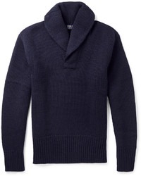 Pull à col châle bleu marine Polo Ralph Lauren