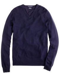Pull a col en v bleu marine original 395658