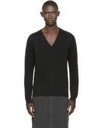 Pull à col en v noir Givenchy