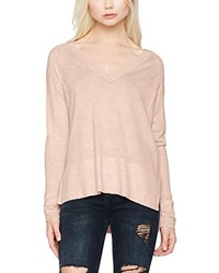 Pull à col en v rose Only