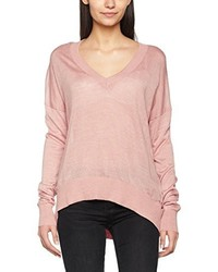 Pull à col en v rose Soaked in Luxury