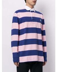 Pull à col polo à rayures horizontales multicolore Polo Ralph Lauren
