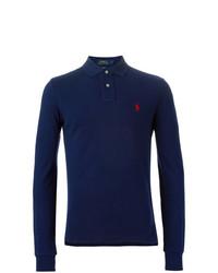 Pull à col polo bleu marine Polo Ralph Lauren
