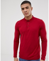 Pull à col polo rouge ASOS DESIGN