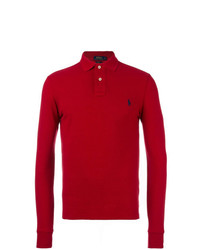 Pull à col polo rouge Polo Ralph Lauren