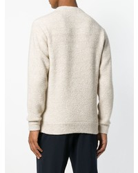 Pull à col rond beige Theory
