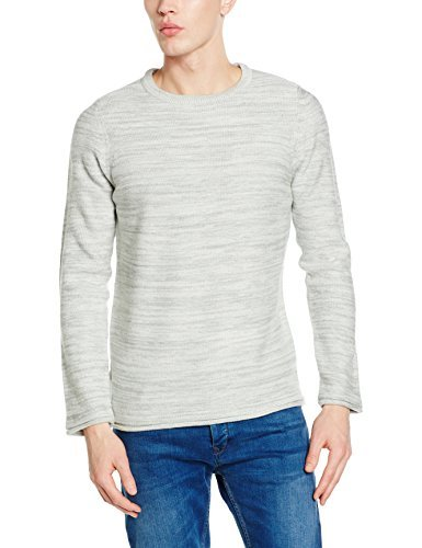 Pull à col rond beige New Look