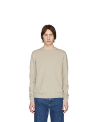 Pull à col rond beige Norse Projects