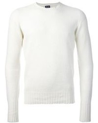 Pull a col rond blanc original 402084