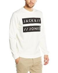 Pull à col rond blanc Jack & Jones