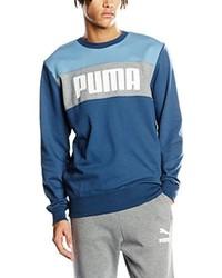 Pull à col rond bleu canard Puma