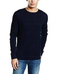Pull à col rond bleu marine Calvin Klein