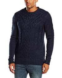 Pull à col rond bleu marine ONLY & SONS