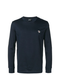 Pull à col rond bleu marine Ps By Paul Smith