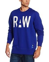 Pull à col rond bleu G-Star RAW