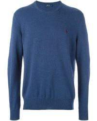 Pull à col rond bleu Polo Ralph Lauren