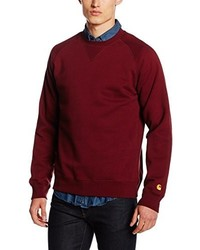 Pull à col rond bordeaux Carhartt