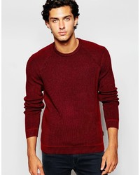 Pull à col rond bordeaux Ted Baker