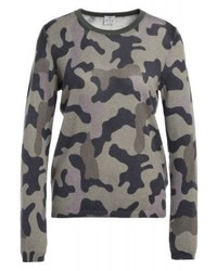 Pull à col rond camouflage gris FTC Cashmere