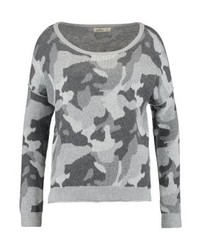 Pull à col rond camouflage gris Hollister Co.